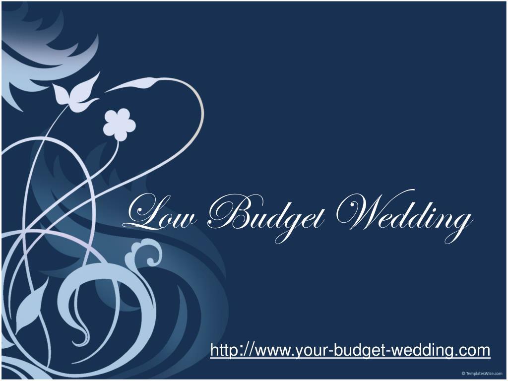 low budget wedding l.