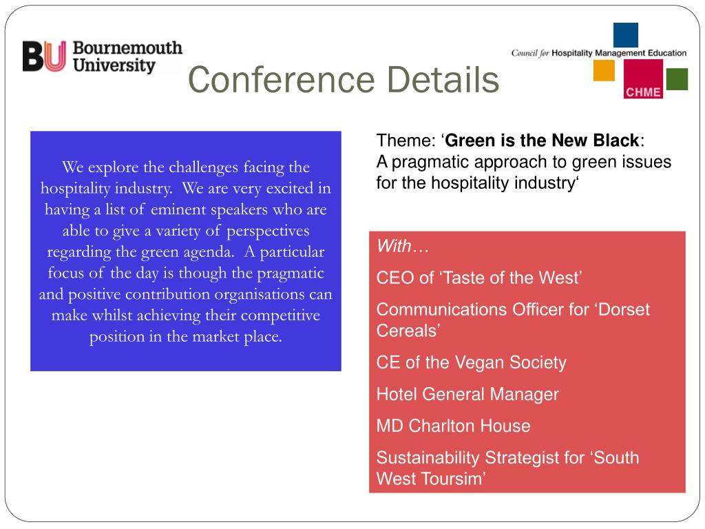 Conference Details