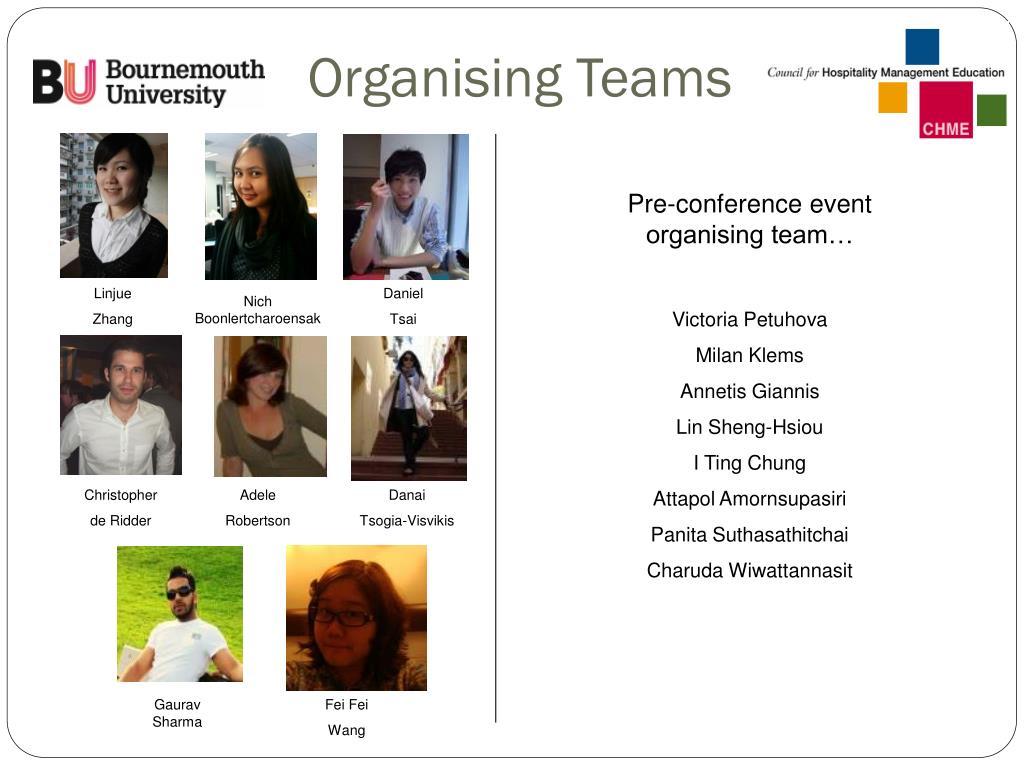 Organising Teams