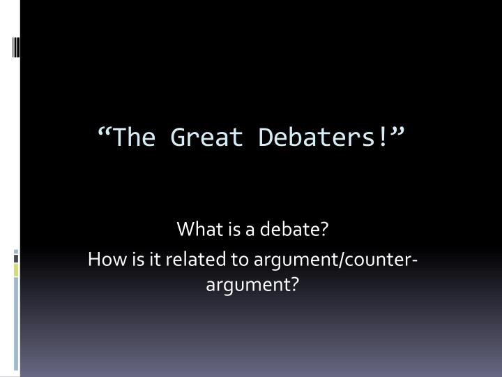the great debaters essays