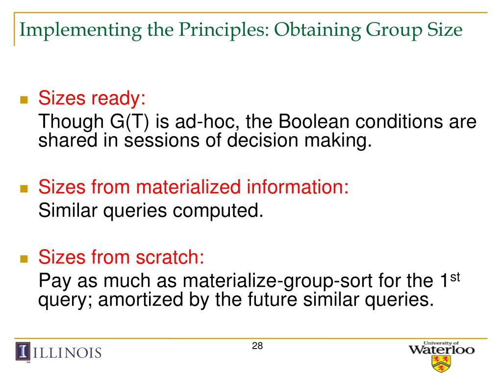 Implementing the Principles: Obtaining Group Size