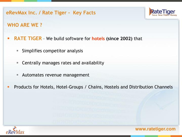 Erevmax inc rate tiger key facts