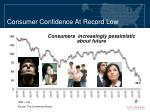 consumer confidence at record low