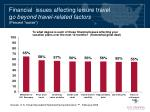 financial issues affecting leisure travel g o beyond travel related factors percent worse