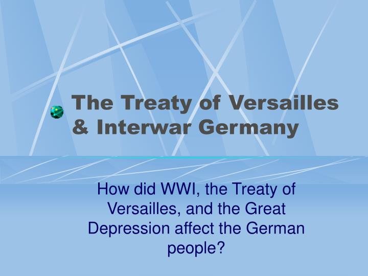the effects of the treaty of versailles on germany
