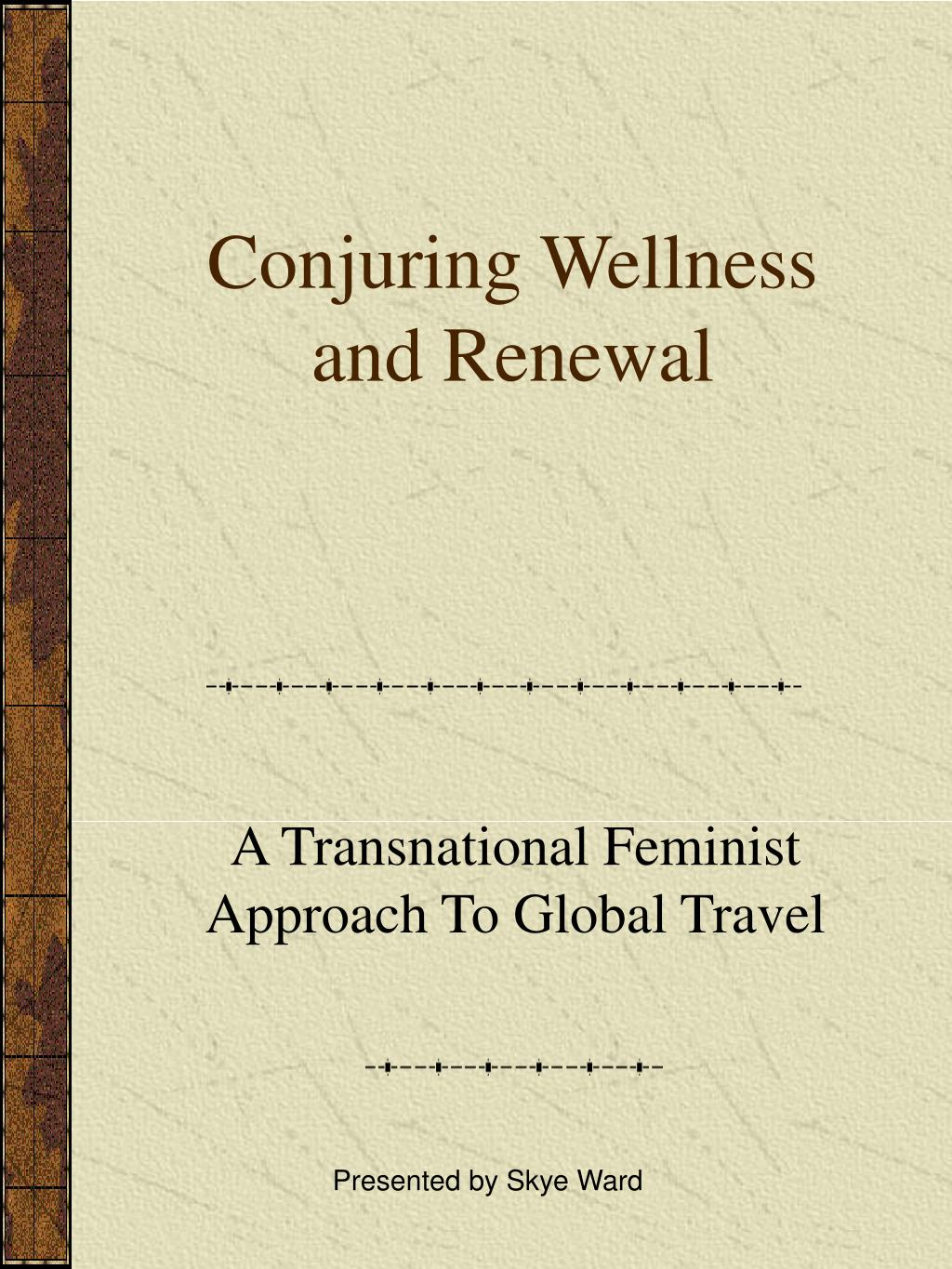 conjuring wellness and renewal l.