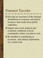 feminist traveler
