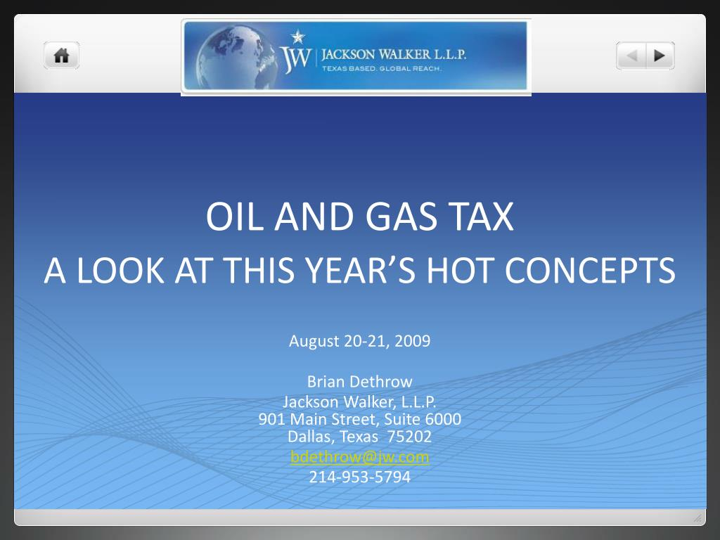 oil and gas tax a look at this year s hot concepts l.
