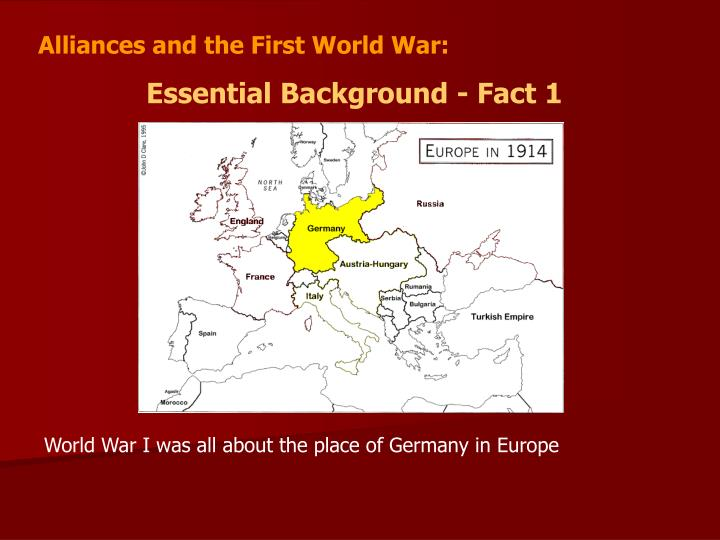 the role of alliances in the first world war The ottoman empire joined the central powers to form the triple alliance with the signing of the august 1914 turco-german alliance turkey formally entered world war i on october 28, 1914, with the bombing of russian black sea ports.