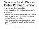 dissociative identity disorder multiple personality disorder36