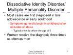 dissociative identity disorder multiple personality disorder37