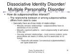 dissociative identity disorder multiple personality disorder38