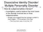 dissociative identity disorder multiple personality disorder39