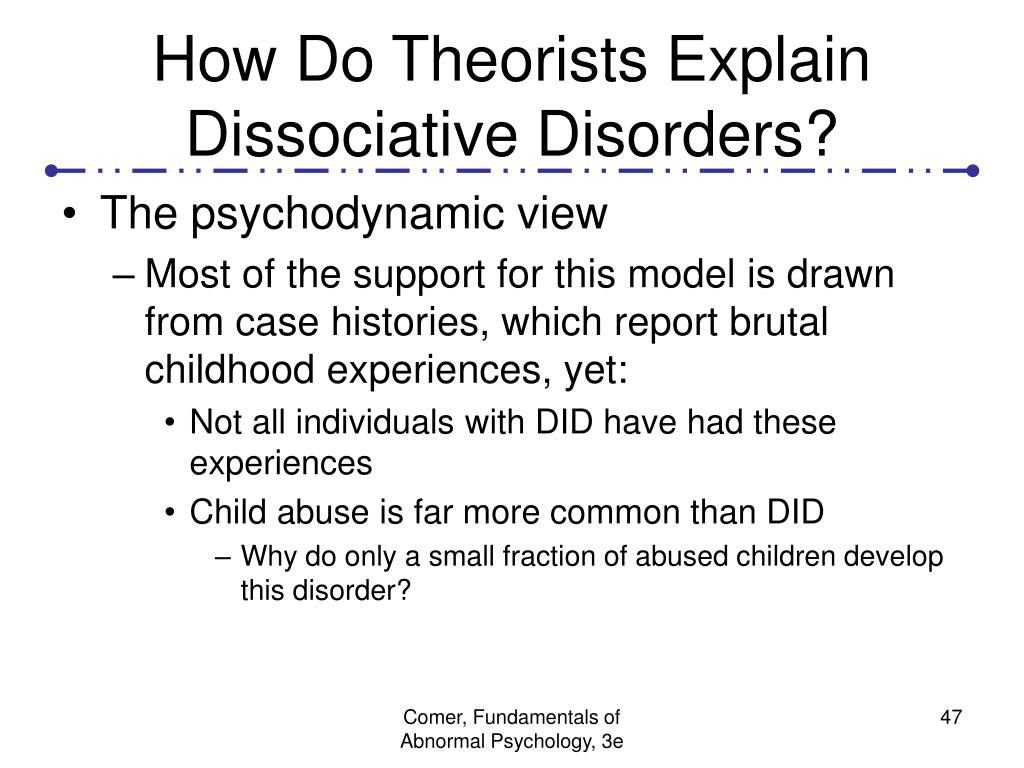 How Do Theorists Explain Dissociative Disorders?
