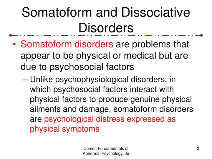 Somatoform and dissociative disorders3