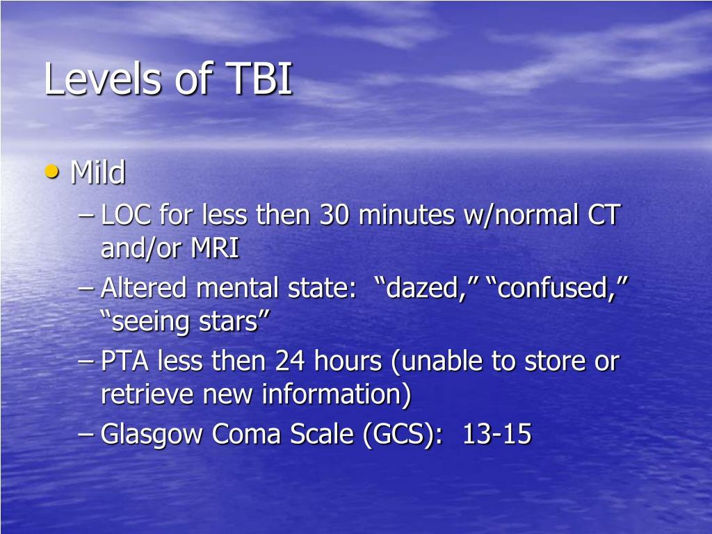 Levels of TBI