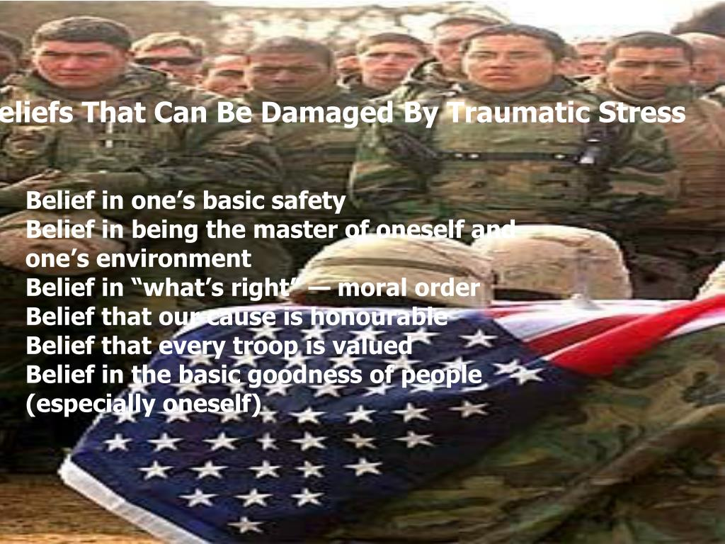 Beliefs That Can Be Damaged By Traumatic Stress