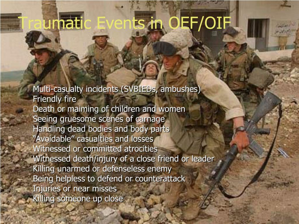 Traumatic Events in OEF/OIF