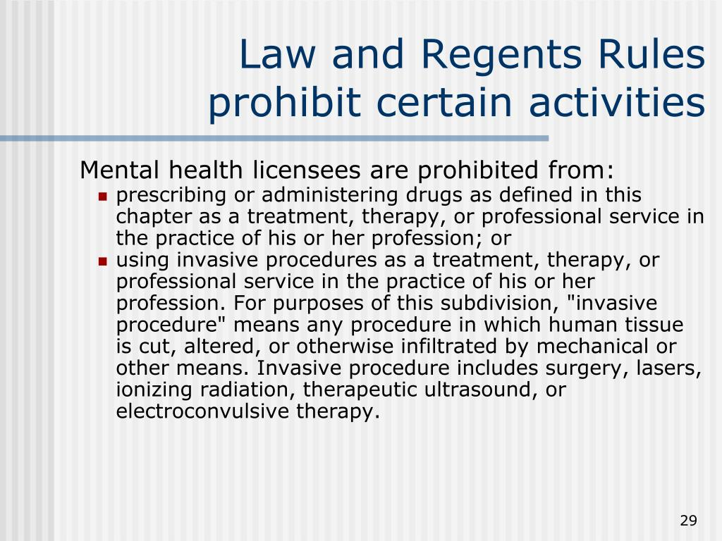 Law and Regents Rules prohibit certain activities