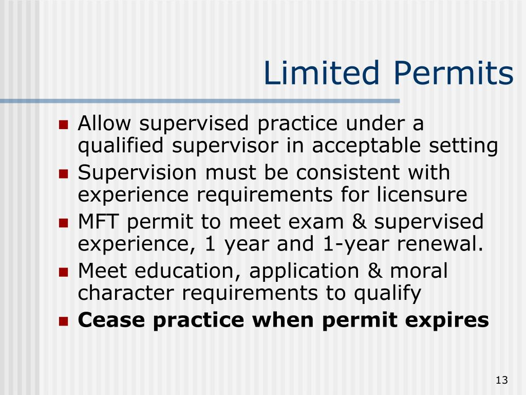 Limited Permits
