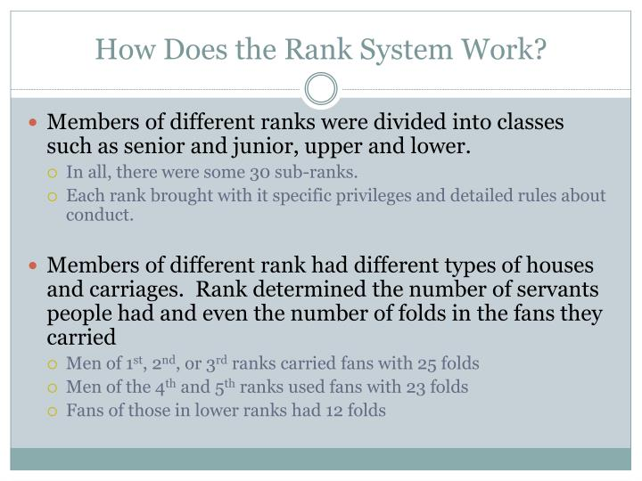 How Does the Rank System Work?