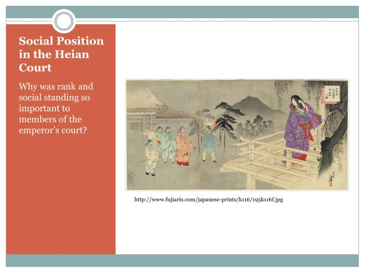 Social Position in the Heian Court