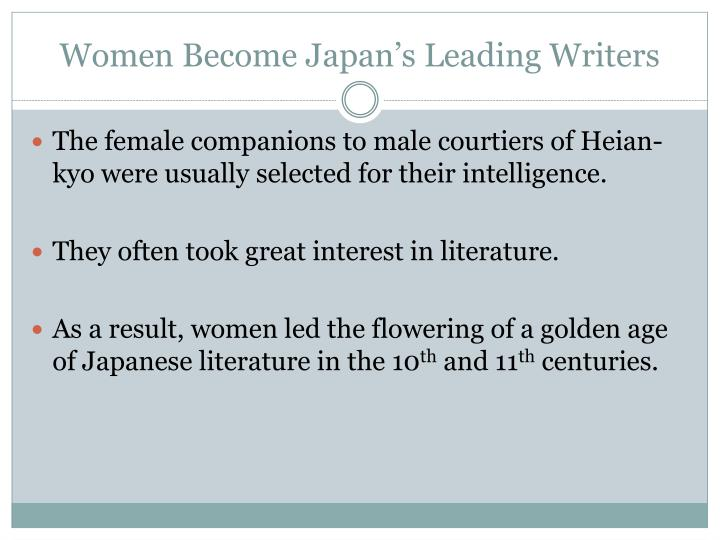 Women Become Japan's Leading Writers