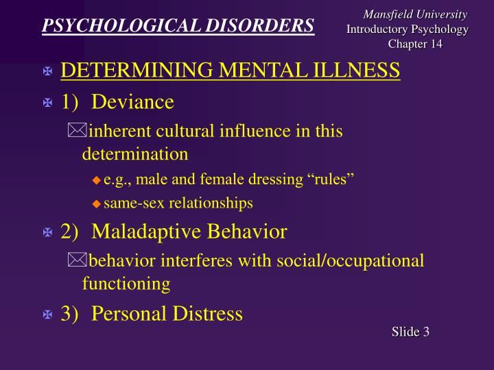 Psychological disorders3