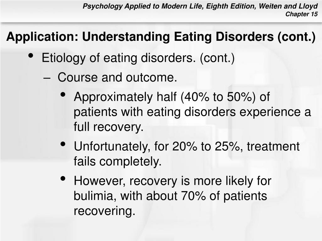 Application: Understanding Eating Disorders (cont.)