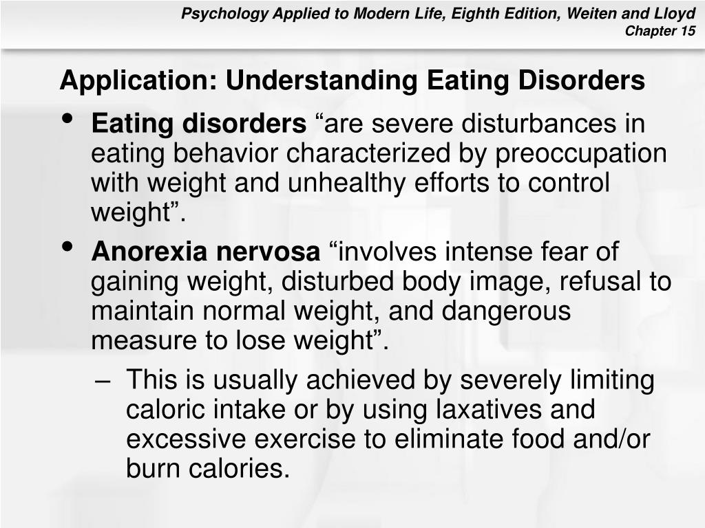 Application: Understanding Eating Disorders