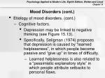 mood disorders cont38