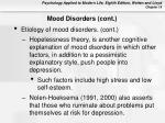 mood disorders cont40