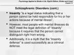schizophrenic disorders cont57
