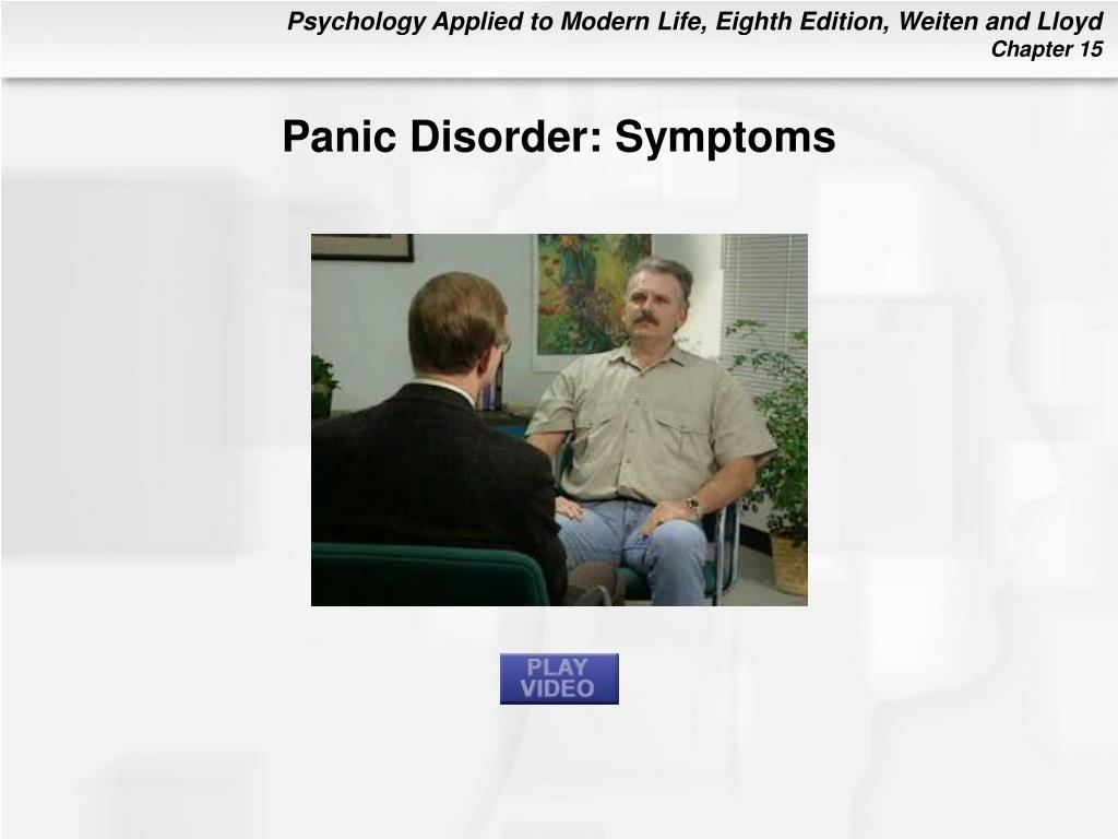Panic Disorder: Symptoms