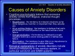 causes of anxiety disorders14