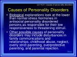 causes of personality disorders37