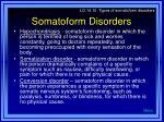 somatoform disorders16