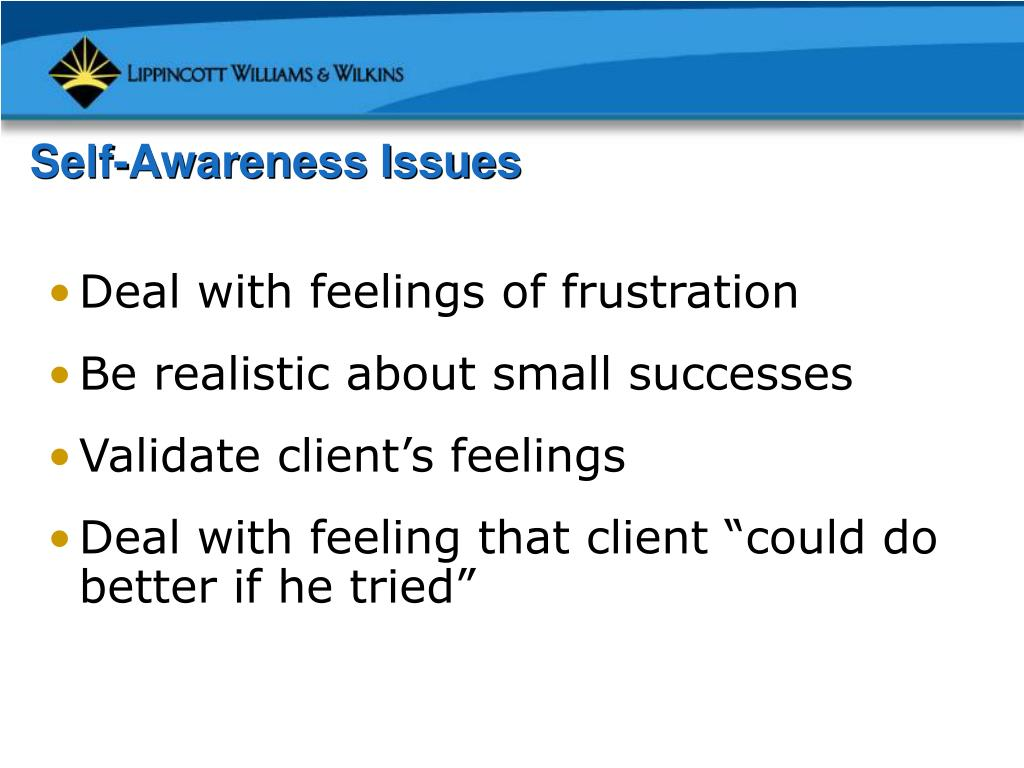 Self-Awareness Issues