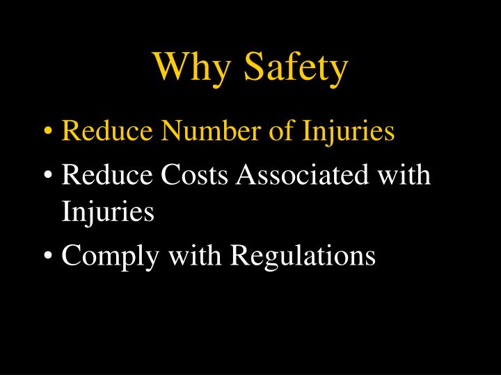 Why safety3