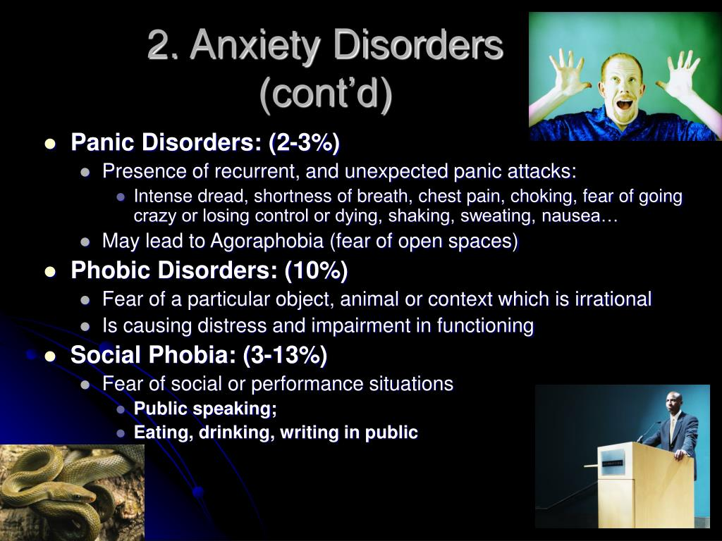 2. Anxiety Disorders