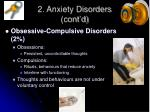 2 anxiety disorders cont d10