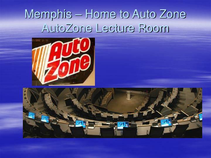 Memphis home to auto zone autozone lecture room