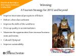 winning a tourism strategy for 2012 and beyond