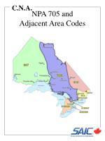 npa 705 and adjacent area codes