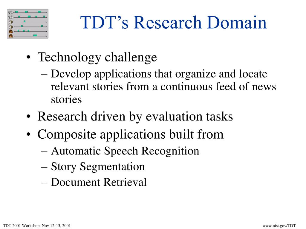 TDT's Research Domain