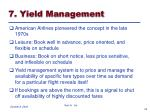 7 yield management