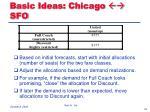 basic ideas chicago sfo
