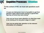 cognitive processes attention8