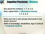cognitive processes memory28