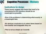 cognitive processes memory36